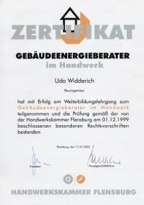 Zertifikat-Gebäudeenergieberater